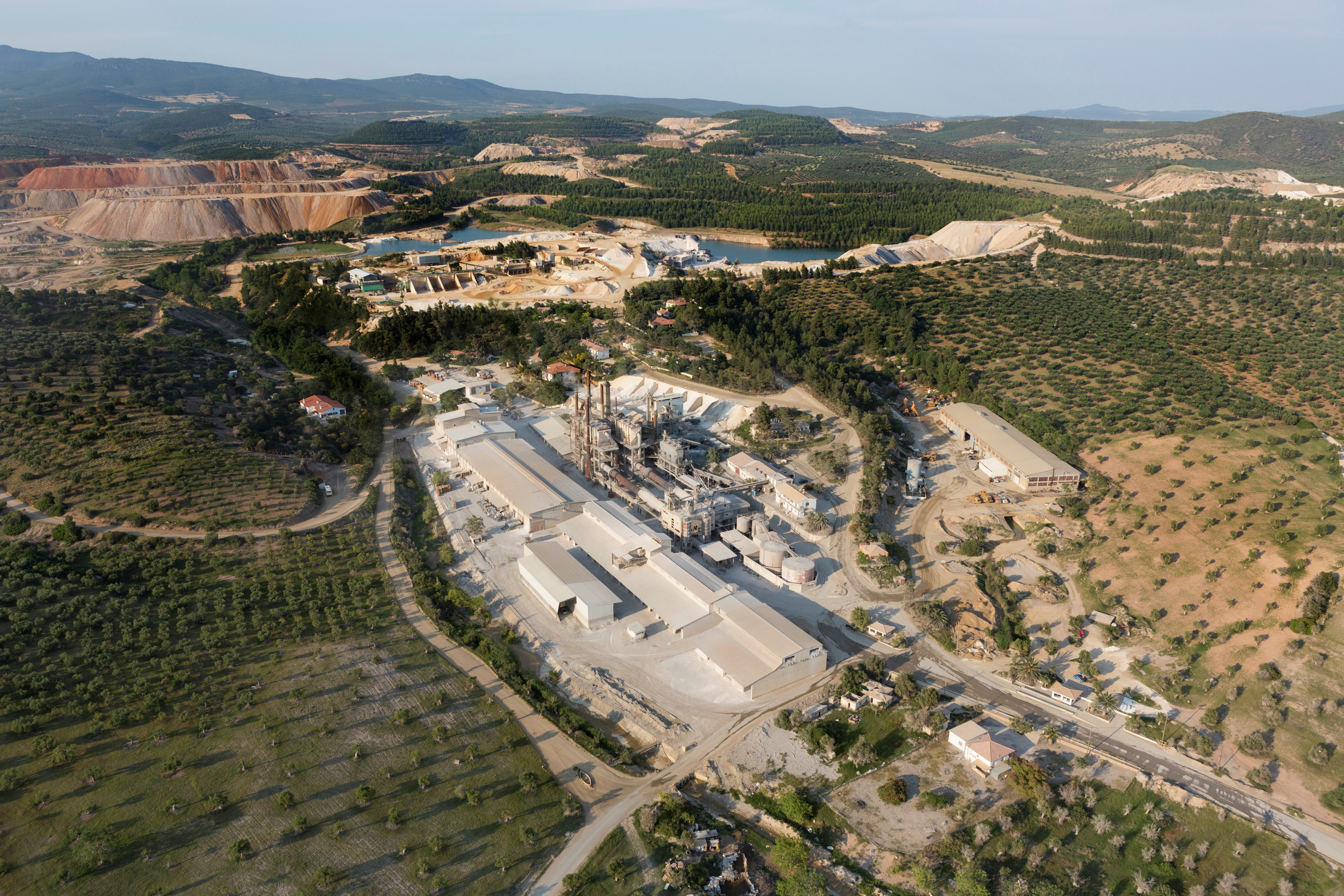 Grecian Magnesite Aerial view of calcination facilities