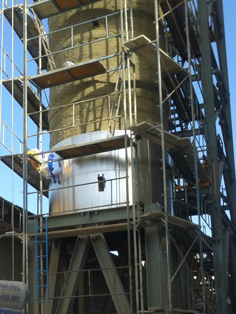 Mineral wool installation at Grecian Magnesite's FGD plant